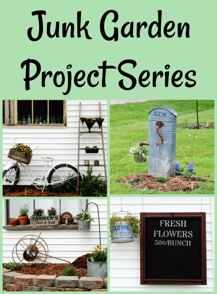 Grow a blooming beautiful garden with repurposed junk | JUNK GARDEN PROJECT SERIES | www.knickoftime.net