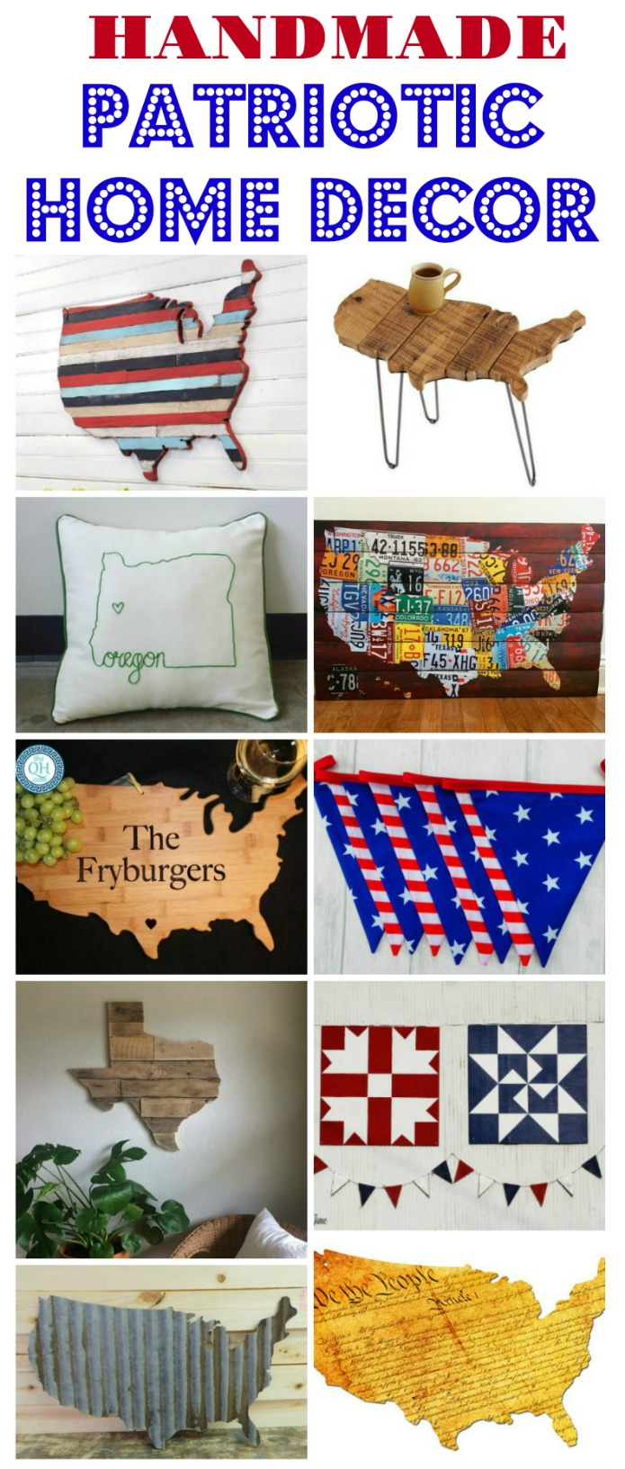 DIY and handmade United States patriotic home decor | www.knickoftime.net