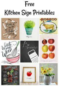 Free Instant Artwork Kitchen Signs Printables