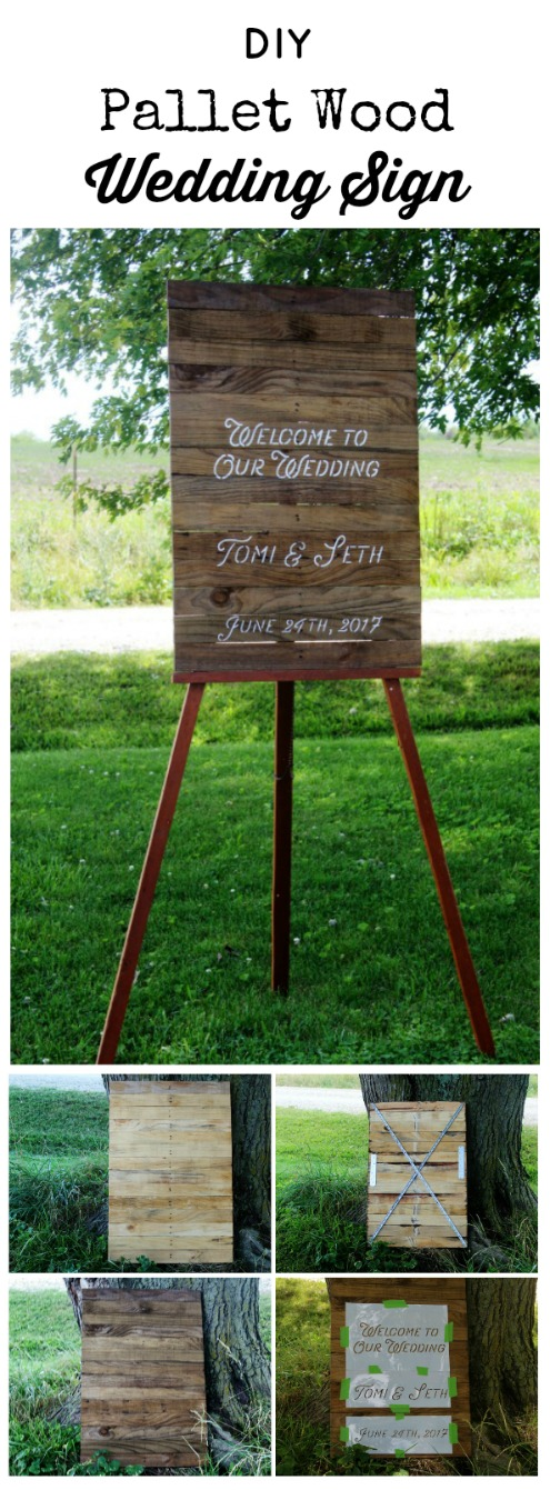 How to make a rustic pallet wood wedding sign | www.knickoftime.net