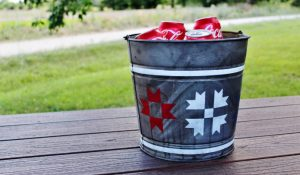 How to Make Galvanized Metal Look Old & Patriotic Barn Quilt Beverage Cooler