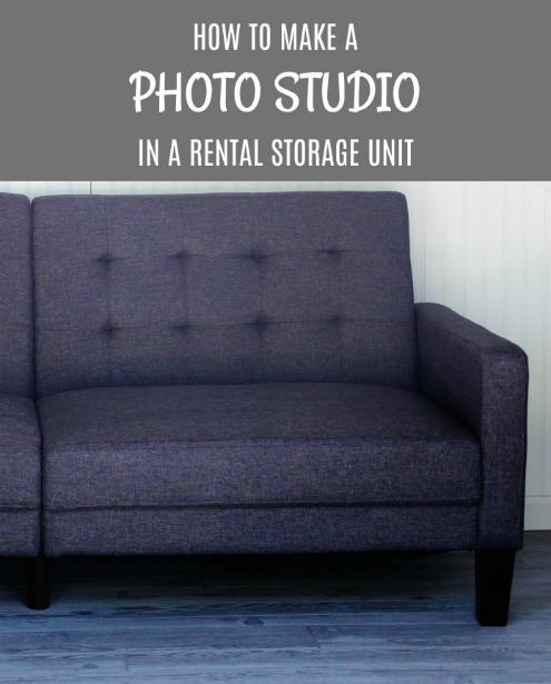 How to make an inexpensive Rental Storage Unit Photo Studio | www.knickoftime.net