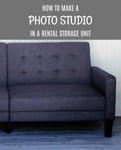 How to make an inexpensive Rental Storage Unit Photo Studio | www.knickoftime.net