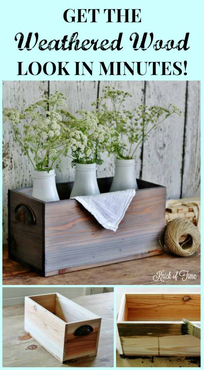 How to make new wood look like old weathered rustic wood | www.knickoftime.net