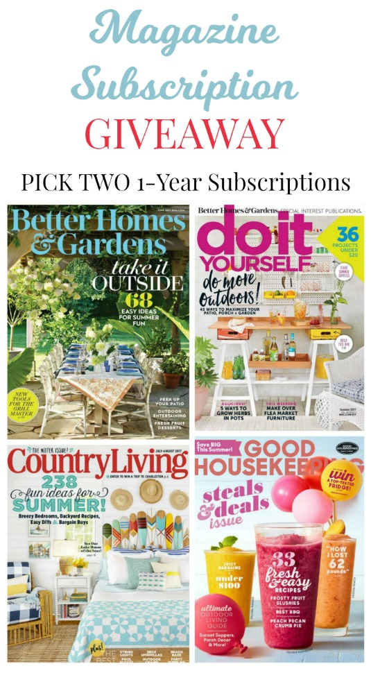 June giveaway choice of 2 magazine subscriptions knick of time magazine subscriptions giveaway better homes and gardens magazine diy do it yourself magazine country solutioingenieria Gallery