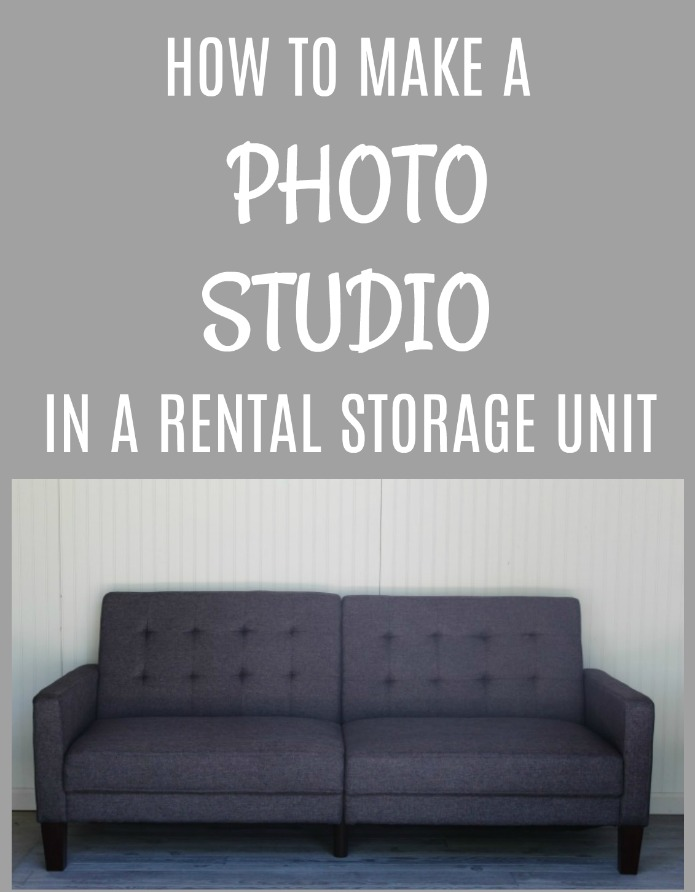 How to make a DIY photo studio in a rental storage unit | www.knickoftime.net