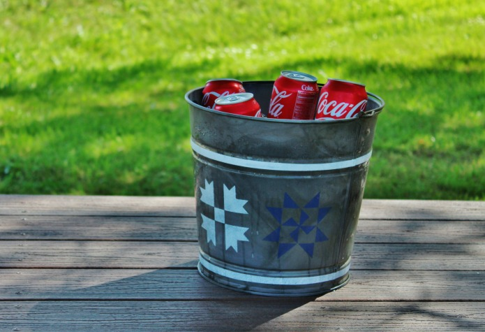 How To Make A Galvanized Bucket Patriotic Barn Quilt Beverage Cooler
