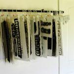Industrial Pipe Stencil Storage Hanger + Stencils Clearance Sale