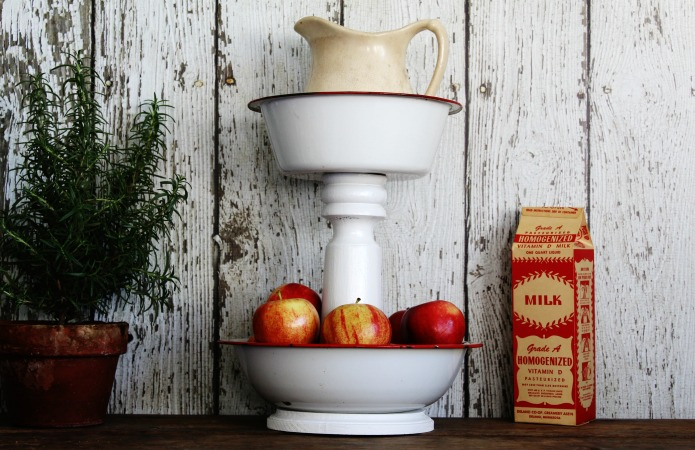 Farmhouse Style Tiered Stands for the kitchen, bathroom and laundry room | www.knickoftime.net