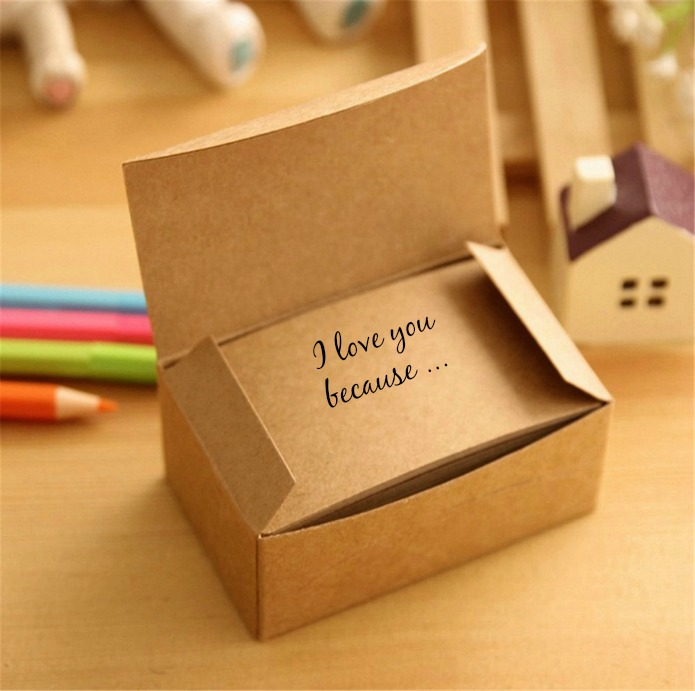 """Writing love notes   Saying """"I Love You"""" 52 Times for Newlywed Couples   www.knickoftime.net"""