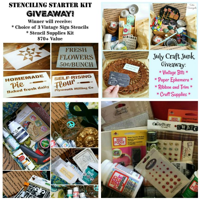 Vintage Sign Stencils & Craft Supplies Giveaway | www.knickoftime.net