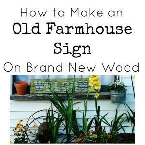 How to Make an Old Farmhouse Welcome Sign On New Wood | www.knickoftime.net