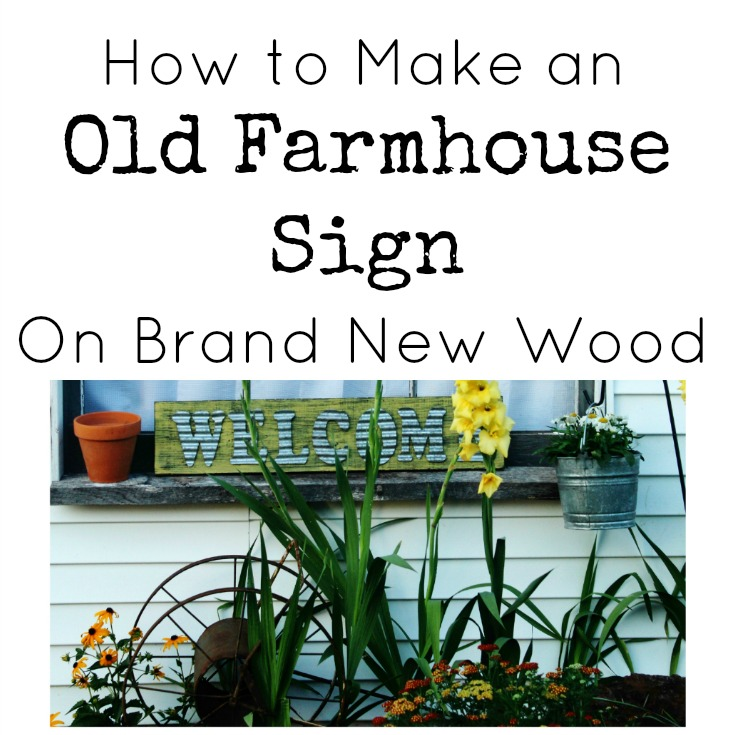 Old Farmhouse Welcome Sign with Corrugated Letters On New Wood | www.knickoftime.net