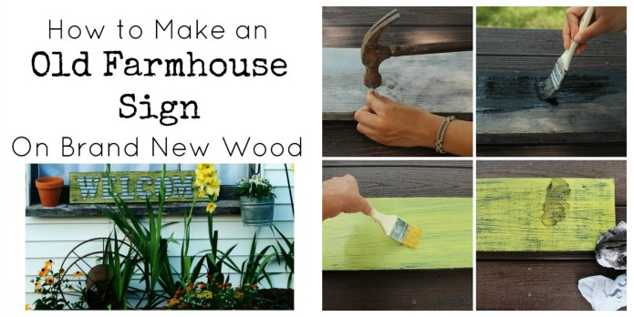 How to Make a Farmhouse Sign that Looks Old | www.knickoftime.net