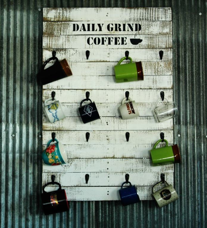 How to make a Reclaimed Pallet Wood Coffee Cup Kitchen Rack   www.knickoftime.net