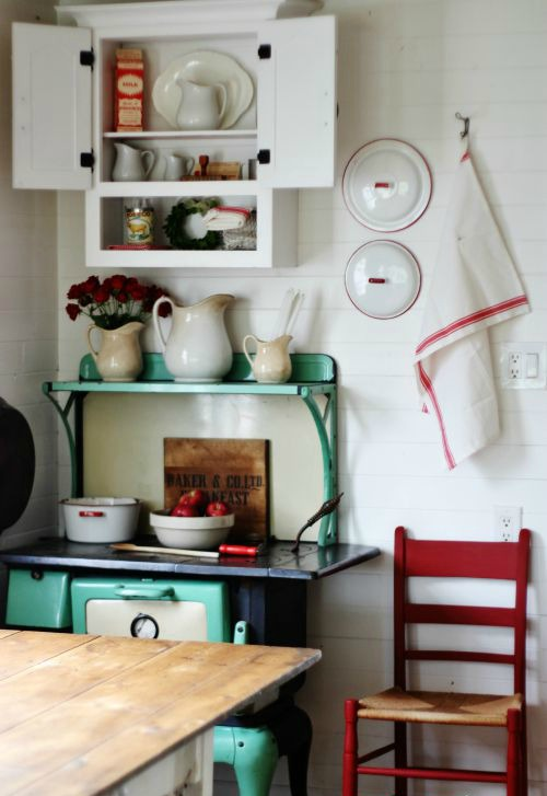 Repurposed Bathroom Cabinet into White Farmhouse Kitchen Cabinet | www.knickoftime.net