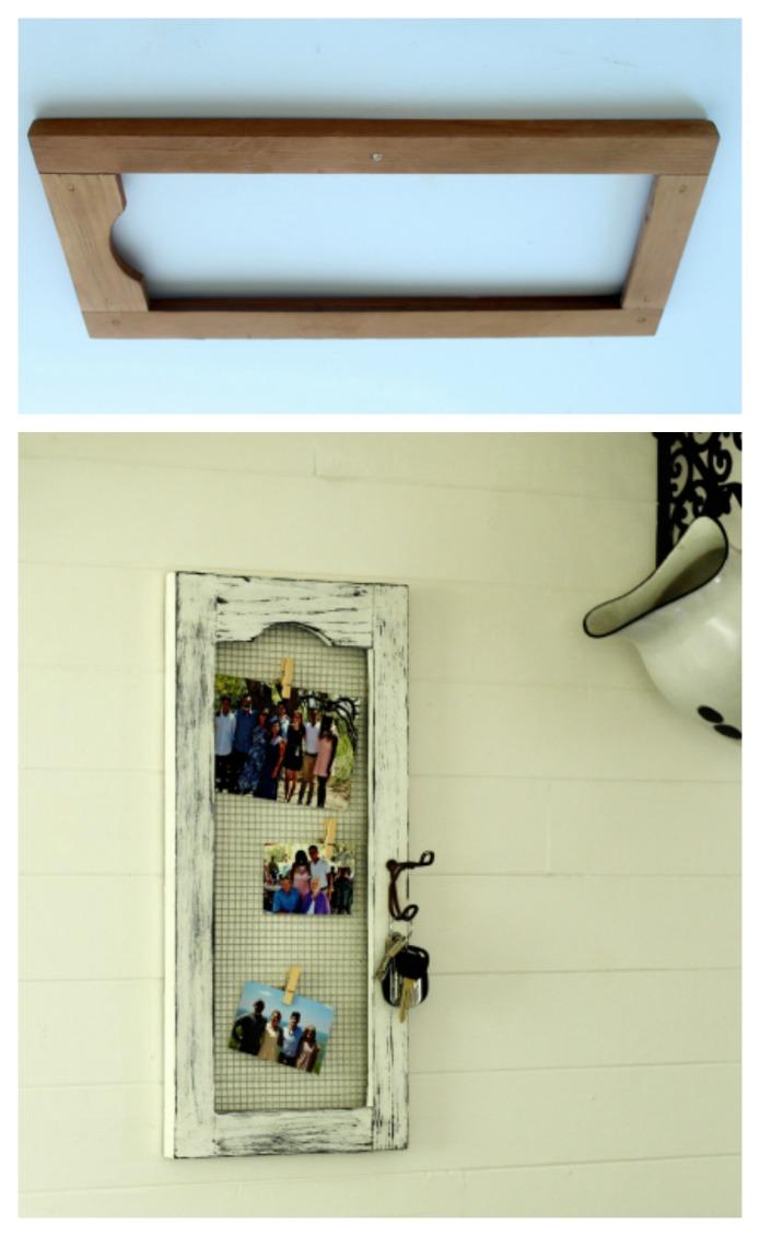 Repurposed Cabinet Board into Kitchen Magnet Board | www.knickoftime.net
