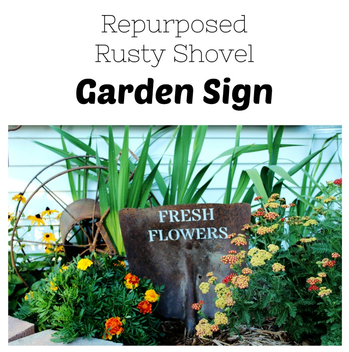 How to turn an old shovel into a rustic garden sign | www.knickoftime.net