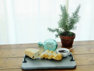 Repurposed Vintage Cutting Board Serving Tray