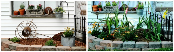 Summer Junk Flower Garden Update | www.knickoftime.net