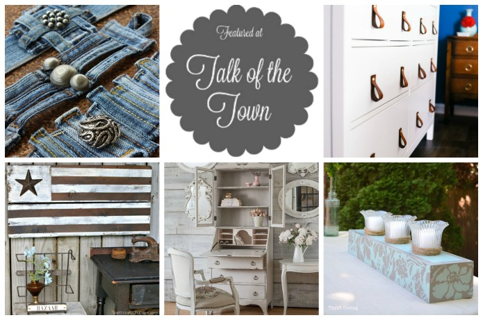 Talk of the Town 79 featured DIY projects at Knick of Time | www.knickoftime.net