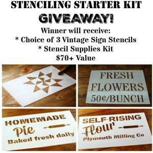 Vintage Sign Stencils Supplies Giveaway at Knick of Time | www.knickoftime.net