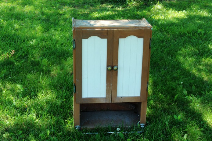 Repurposed cabinet before makeover | www.knickoftime.net