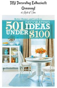 501 Decorating Ideas Under $100 Book Giveaway