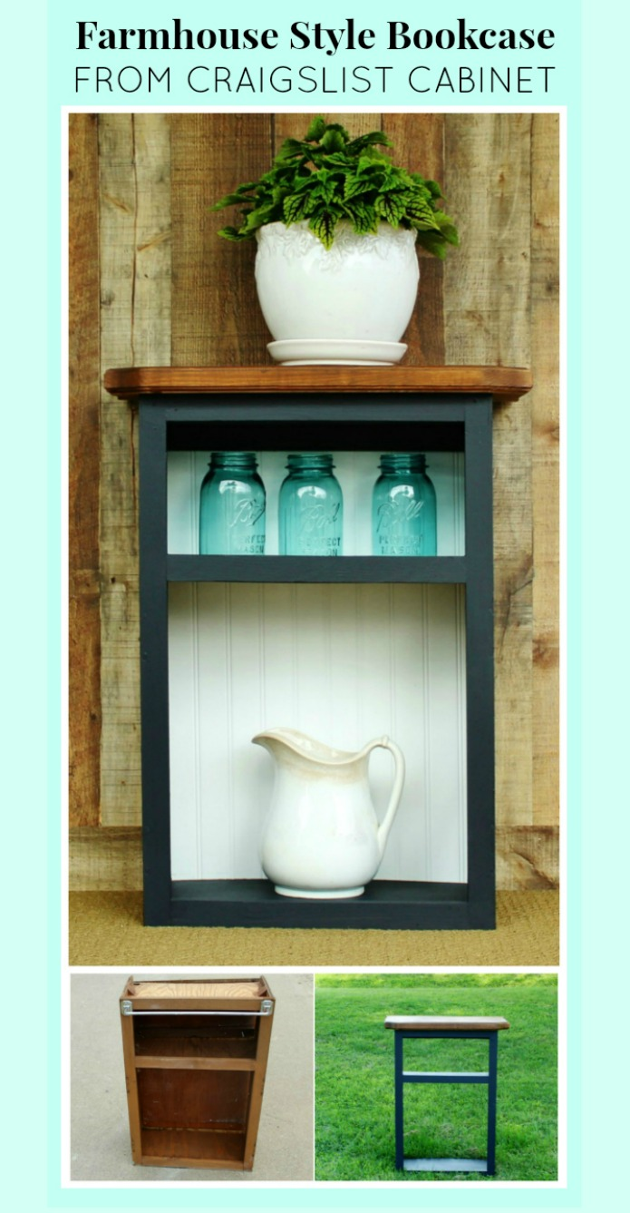 How to Turn aThrifted Cabinet into a Farmhouse Style Bookcase | www.knickoftime.net