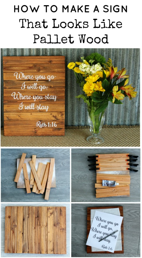 How to make a sign that looks like pallet wood | www.knickoftime.net