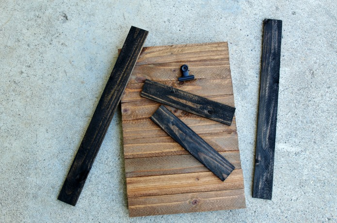 Supplies to make a Rustic Wooden Photo Display Clipboard | www.knickoftime.net