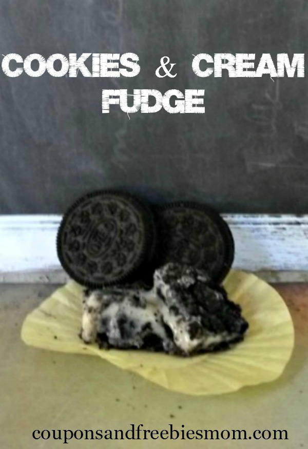 Cookies and Cream Fudge by Coupons and Freebies Mom