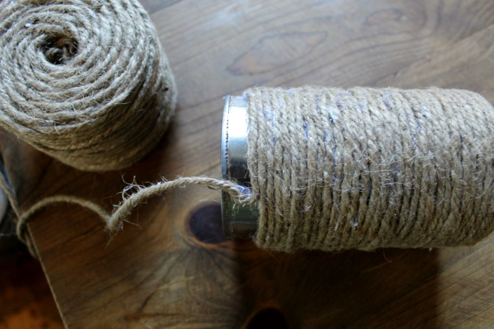 How to Make Jute Rope Tin Can Succulent Planters | www.knickoftime.net