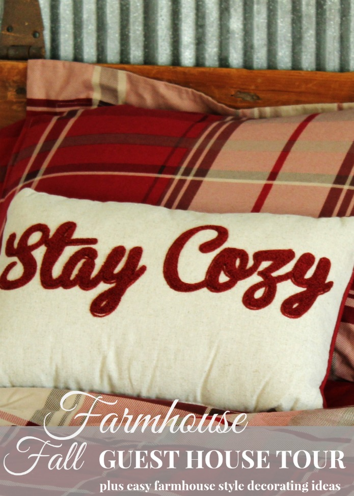 Fall Farmhouse Guest Room Tour with Easy Decorating Ideas | www.knickoftime.net