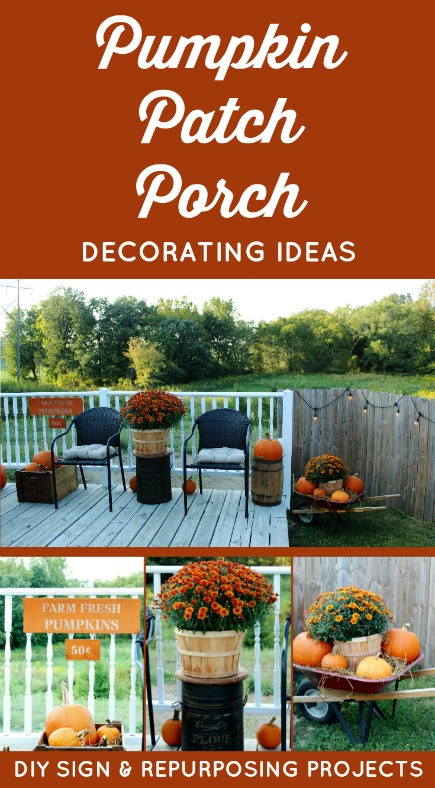 Fall Pumpkin Patch Sign and Porch Decorating Ideas | www.knickoftime.net