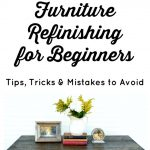 Furniture Refinishing for Beginners| Refinishing an Antique Coffee Table