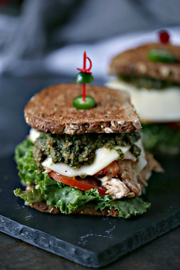 Grilled Chicken Sandwich with Basil Pesto by Cravings of a Lunatic