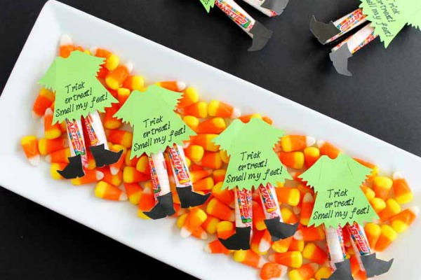 Witch Legs Halloween Candy Ideas by The Country Chic Cottage
