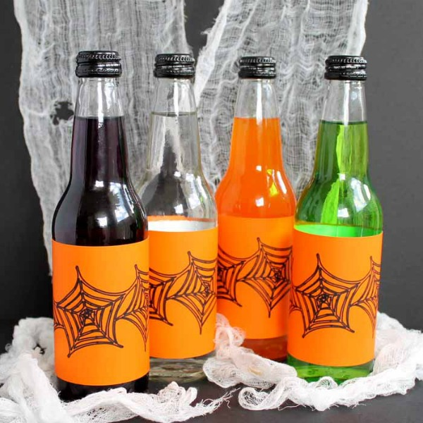 Halloween Bottle Labels by The Country Chic Cottage