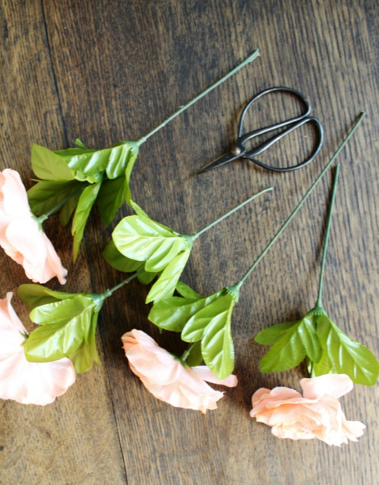 How to make a faux flowers with baby's breath grapevine wreath