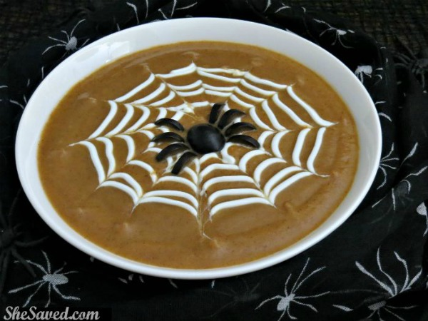 Spooky Spiderweb Soup by She Saved