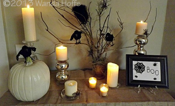 Spooky Glamorous Tablescape for Halloween Party by Premeditated Leftovers