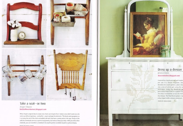 Reporosed chair projects Cottages and Bungalows magazine feature