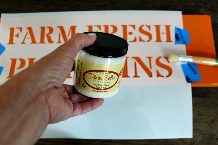 How to paint a farm fresh pmpkins patch sign | www.knickoftime.net