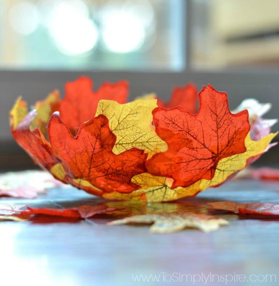 DIY Fall Leaf Bowl by To Simply Inspire