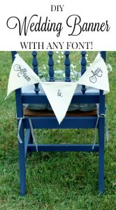 DIY wedding decor canvas wedding banner with custom font | www.knickoftime.net