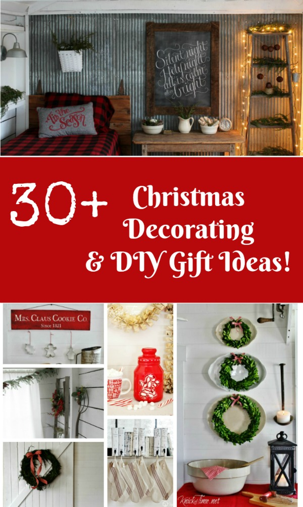 30+Easy DIY Christmas Decorating and Gift Ideas Knick of Time