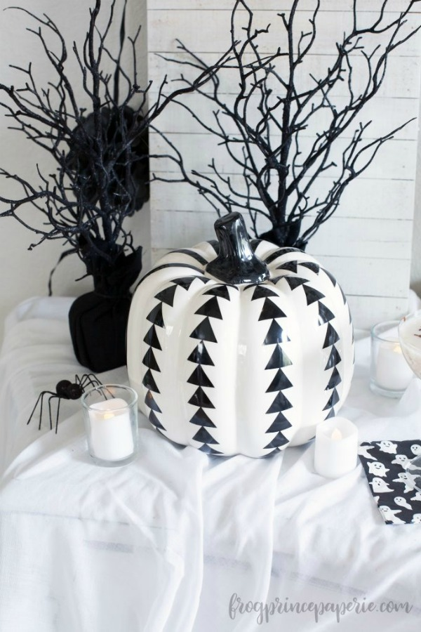 Halloween boo bash party in black and white by Frog Prince Paperie