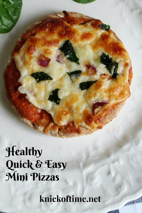 Healthy Mini Pizza Recipe | www.knickoftime.net