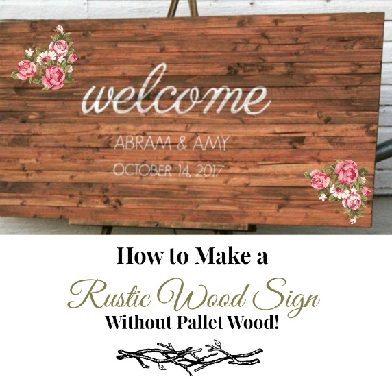 how to make a rustic wooden sign no pallet wood needed. Black Bedroom Furniture Sets. Home Design Ideas